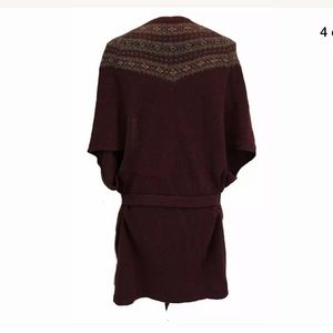 S/M Ralph Lauren Knit cardigan open sweater wine
